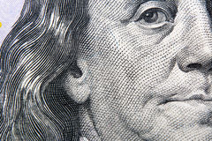 Den amerikanska sedeln för dollar 100 Royaltyfri Bild