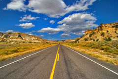 Den amerikanska vägen Royaltyfria Bilder