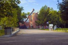 Den Amiralitetet paviljongen i Catherine Park, Pushkin, St Petersburg Royaltyfri Foto