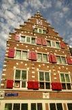 den amsterdam kanalen houses Nederländerna Fotografering för Bildbyråer