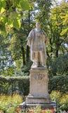 Den Anastasius Grun statyn i Stadt parkerar, Graz, Österrike Arkivbild