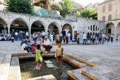 Den andra borggården av Hazretien Ibrihim Halilullah i Urfa i Turkiet Arkivbild