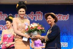 Den andra löparen-Upp för fröcken Songkran 2014 Royaltyfria Foton