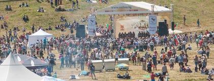 Den andra platsRozhen festivalen 2015 i Bulgarien royaltyfria bilder