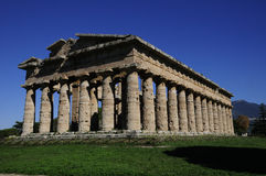 Den andra templet av Hera, Paestum, Italien Royaltyfria Bilder