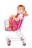 den angelägna flickan går att shoppa till Fotografering för Bildbyråer