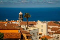 Den annan sikten av den La Orotava staden, Tenerife Arkivfoton