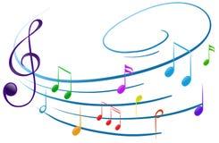 den anslags- instrumentmusikalen bemärker spelrum Royaltyfri Bild