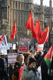 den anti london protesten kriger Royaltyfri Fotografi
