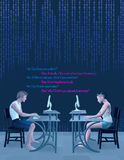 Den anti-online-sociala datummärkningen väljer upp linjer illustration Fotografering för Bildbyråer