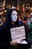 den anti protesten kriger Arkivfoto