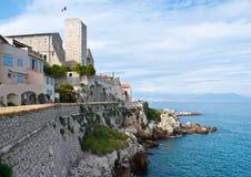 Den Antibes slotten Arkivbild