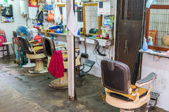 Den antika barberaren shoppar i Kowloon, Hong Kong Royaltyfri Fotografi