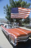 Den antika cabrioleten i Juli 4th ståtar, Lima, Montana arkivfoton