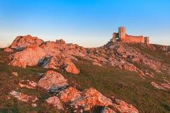 Den antika fästningen fördärvar Enisala Arkivbilder