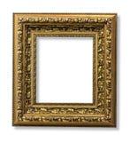 Den antika guld- framen Fotografering för Bildbyråer