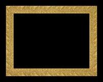 Den antika guld- ramen på den svarta bakgrunden Royaltyfria Foton