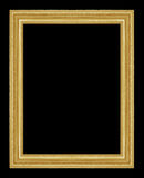 Den antika guld- ramen på den svarta bakgrunden Fotografering för Bildbyråer