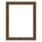 Den antika guld- ramen på vit Fotografering för Bildbyråer