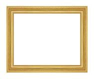 Den antika guld- ramen på viten Arkivfoto