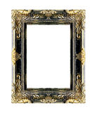 Den antika guld- ramen på viten Royaltyfria Foton