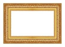 Den antika guld- ramen på viten Royaltyfri Foto