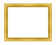 Den antika guld- ramen på viten Arkivfoton