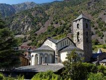Den antika kyrkan i Andorra royaltyfria foton