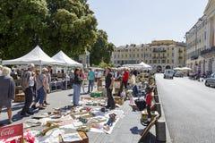 Den antika marknaden i Nice Royaltyfria Bilder