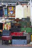 Den antika marknaden i den Spitalfields marknaden rymms traditionellt på torsdagar Fotografering för Bildbyråer