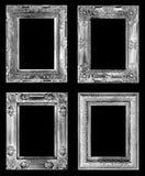 Den antika ramen som isoleras på svart Arkivfoton