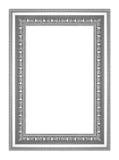 Den antika silverramen på vit bakgrund Royaltyfria Bilder