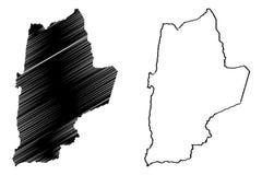 Den Antofagasta regionrepubliken av Chile, administrativa uppdelningar av illustrationen f?r den Chile ?versiktsvektorn, klottrar royaltyfri illustrationer