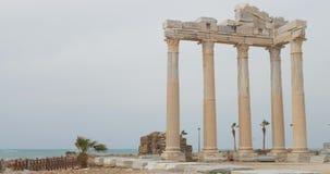 Den Apollo templet fördärvar i sida stock video