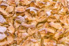 Den Apple pien texturerar royaltyfri bild