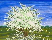 Den Apple treen fjädrar in Fotografering för Bildbyråer
