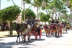 Den April mässan av Seville Arkivbilder