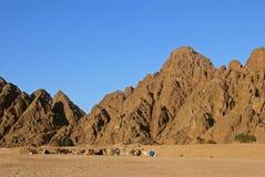 Den arabiska öknen, EGYPTEN Royaltyfria Foton