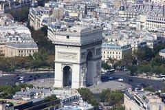 Den Arc de Triomphe EOS-rebellen Arkivbild