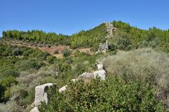 Den Arcadian väggen, Messinia, Grekland royaltyfri bild