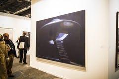 Den ARCOmadrid samtida konstmässan börjar dess 33rd upplaga. Madri royaltyfri bild