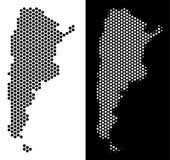 Den Argentina översikten förhäxer tegelplattamosaiken stock illustrationer