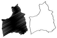 Den Arica y Parinacota regionrepubliken av Chile, administrativa uppdelningar av illustrationen för den Chile översiktsvektorn, k royaltyfri illustrationer