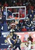 Den Arizona vakten Allonzo Trier Reacts som hans korg vinkas av Fotografering för Bildbyråer