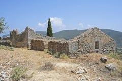 Den arkeologiska platsen av skolan av Homer Royaltyfri Foto