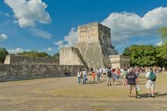 Den arkeologiska platsen för Maya av Chichen Itza, Yucatan, Mexico Arkivfoto
