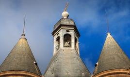 Den arkitektoniska detaljen av den stora klockan kallade också det Porte helgonet royaltyfria bilder