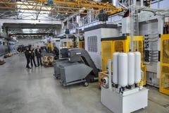 Den Armalit fabriken producerar skepparmaturen för skeppsbyggeriföretag Royaltyfria Foton