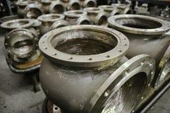Den Armalit fabriken producerar skepparmaturen för skeppsbyggeriföretag Arkivbilder
