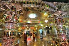 Den Arulmigu Sri Rajakaliamman exponeringsglastemplet royaltyfri foto